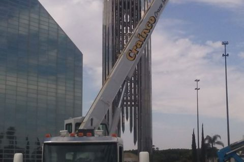 Crane Setup - Christ Cathedral Church