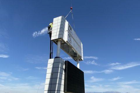 Crane for Sign Installation