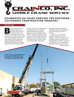 Crainco Featured in CalContractor Mag