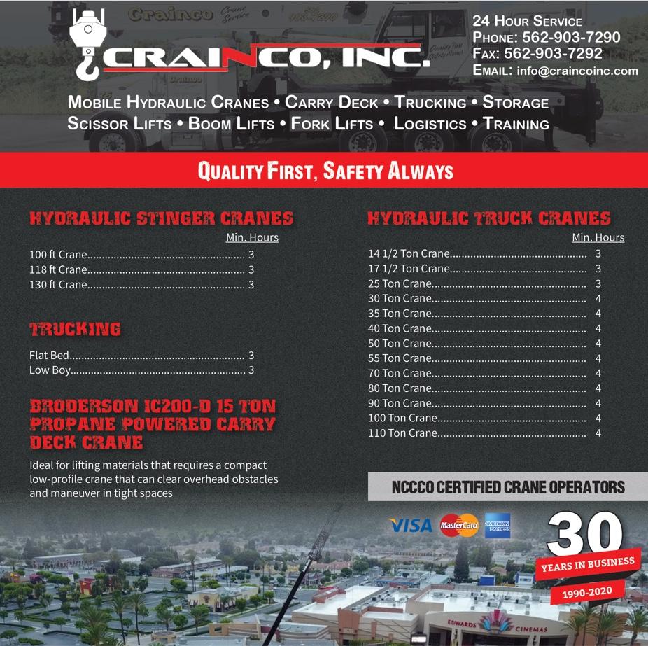 Hydraulic Broderson Line Card - Crainco